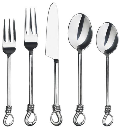 Handmade Silverware - gourmet settings handmade twist 20 flatware set