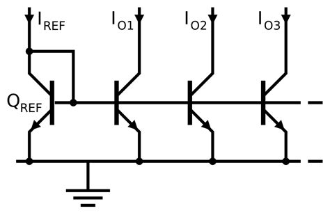multi emitter transistor in bjt file bjt current mirror svg wikibooks open books for an open world
