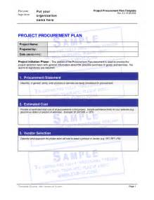 Procurement Document Template project procurement plan template hashdoc