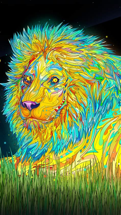 wallpaper iphone 5 psychedelic trippy lion iphone 5 wallpaper iphone5 wallpaper gallery