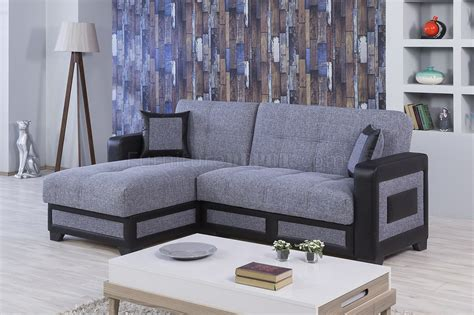 sectional form elit form sectional sofa bed gray fabric by casamode w options