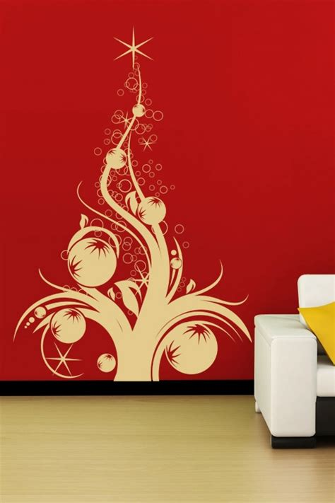 christmas wall decals tree with ornaments