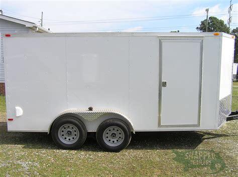 trailer white custom 7x14 ta trailer white r side door rtp