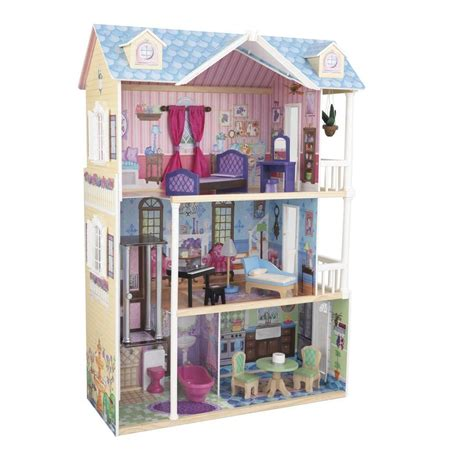 playing doll house kidkraft my dreamy dollhouse play set 65823 the home depot