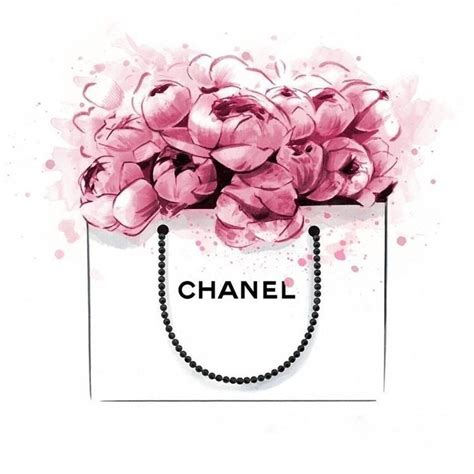 Bag Tas Chanel Flower Large chanel no 5 perfume flower image a4 poster gloss print laminated inspiration