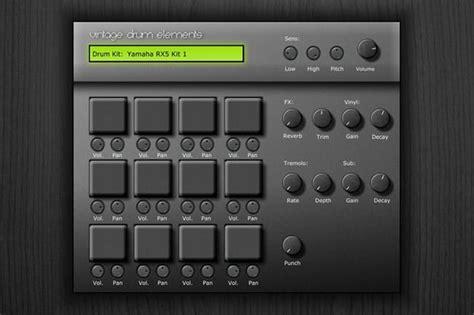 drum pattern plugin free vintage drum elements vst plugin by cycle audio