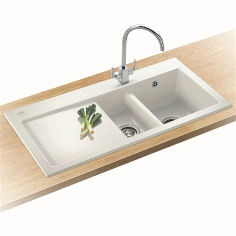 Ceramic Kitchen Sink Villeroy And Boch Mythos Mtk651 Bowl And A Half R H