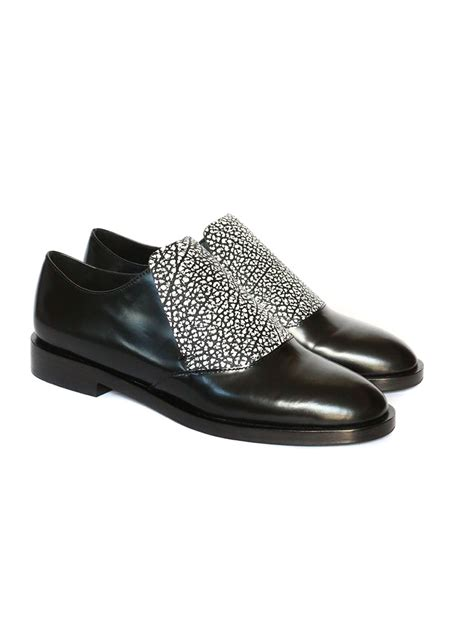 black and white flat shoes louise other stories black and white glazed