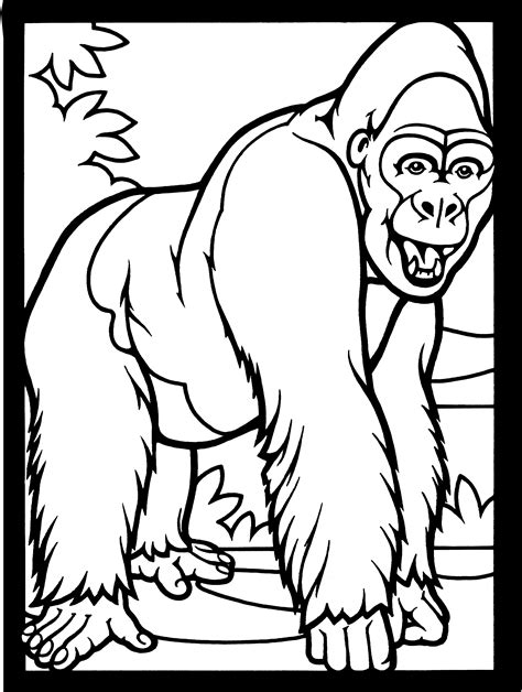 Free Gorilla Coloring Pages Gorilla Coloring Pages