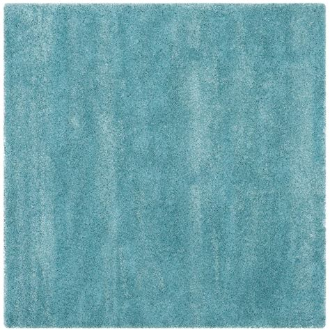 10 X 10 Ft Square Rug - safavieh milan shag aqua blue 10 ft x 10 ft square area