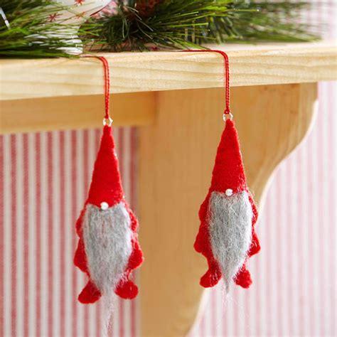free christmas decorations to make make a gnome ornament from better homes and gardens