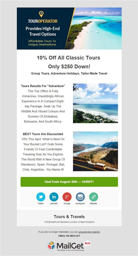 travel email templates 6 best agencies email templates for trade cement
