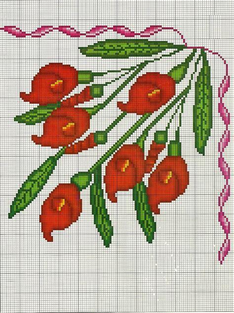 punto de cruz imagenes esquemas graficos y patrones costuras stephany patrones de flores de punto de cruz