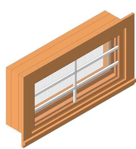 vinyl awning window bim objects families