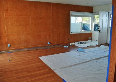 paint wood paneling quaintly garcia diy painting wood paneling