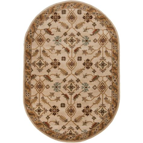 6 x 9 oval area rugs artistic weavers epictus beige 6 ft x 9 ft oval indoor area rug s00151006752 the home depot