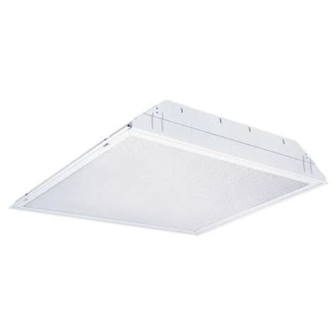 lithonia lighting 2 light white troffer fluorescent light