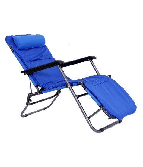 Relaxation Chairs India by Relax Folding Chair Bed Blue Buy At Best