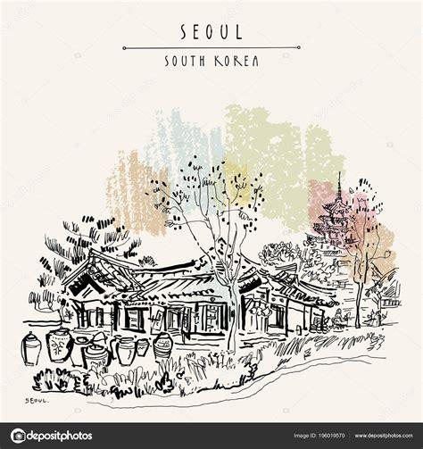 House Seoul South Korea Asia seoul corea sud asia vecchia casa tradizionale hanok