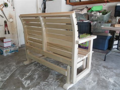 free glider bench plans free wood glider bench plans