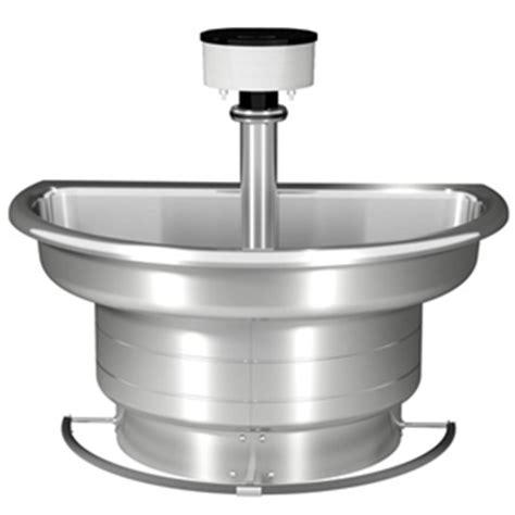 Elkay Commercial Faucets Bradley Wf2704 Classic Washfountain 54 Quot Semi Circular