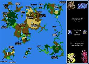 Ff2 World Map by Final Fantasy Iv Advance World Map Png Reyvgm