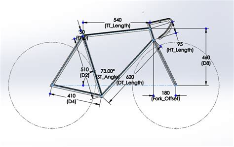 bicycle frame design geometry bicycle frame design using solidworks simulation
