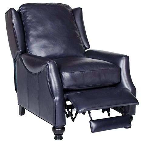 Navy Leather Recliner by Charles Recliner Chair Turned Baron Navy Leather