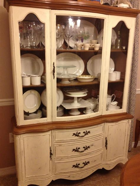 painted china cabinet painted using sloan chalk paint in white my projects