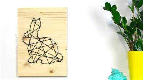 Do It Yourself Decoration by Tuto Lapin De P 226 Ques Diy En Fil Tendu Youtube