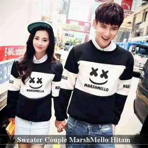 Sweater Marshmello Hitam Sweater Mello Murah Sweater Marshmello Hitam Harga 120rb Resler 100rb