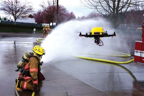 fire fighting drone drones to the rescue rotordrone