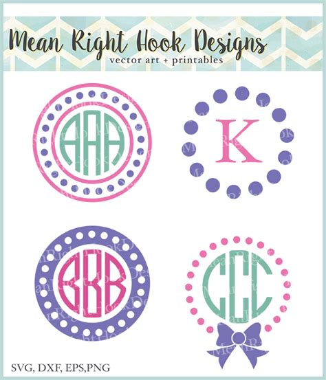 monogram ideas mean right hook monogram design bundle little big crafter