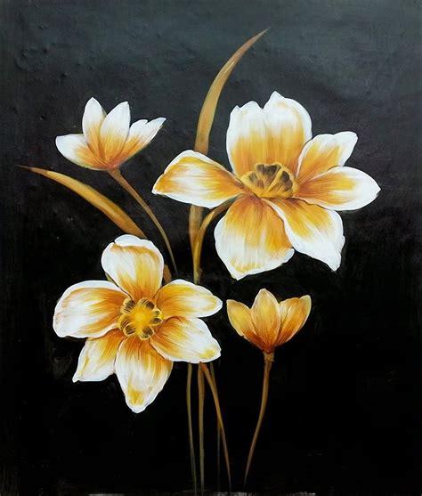 25 gambar lukisan bunga dan pohon high resolution seni rupa