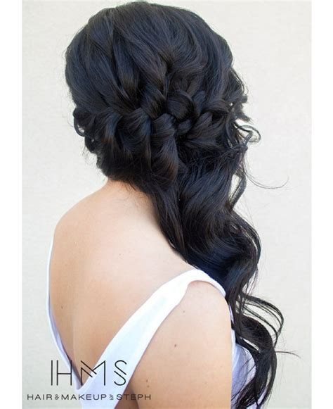 homecoming hairstyles off to the side 1000 ideas about side curls on pinterest side