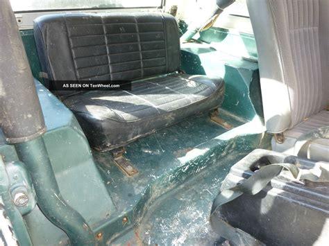 Jeep Fiberglass Tub 1984 Jeep Cj7 4 2l 6 Cyl Fiberglass Tub With Western