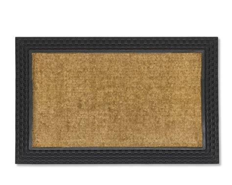 Rubber And Coir Doormat basketweave rubber coir doormat williams sonoma