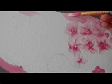 fiori di ciliegio dipinti fiori di ciliegio dipinti a mano libera sulla parete