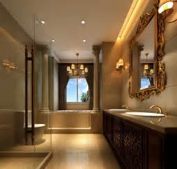 Interior Bathroom Luxury Bathroom Interior Design Neoclassical 3d House