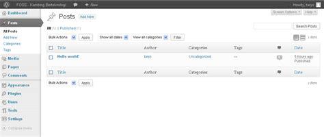 fungsi menu format adalah untuk mengenal fungsi menu utama pada wordpress mengenal