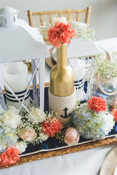 nautical themed centerpiece ideas best 25 nautical centerpiece ideas on