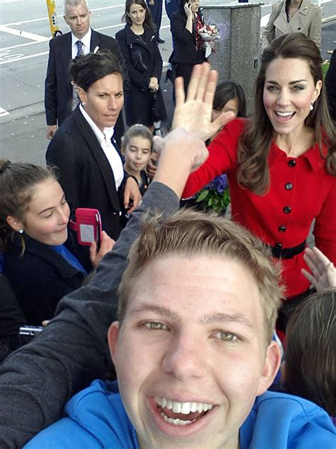 princess kate prince william and kate middleton fan art william and kate pose for selfies with excited fans