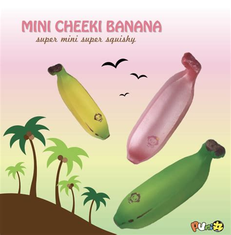 Cheeki Magical Banana Squishy Licensed Squishy Punimaru puni maru mini cheeki banana squishy scented