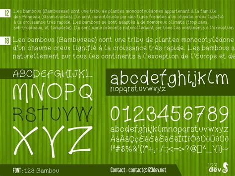 dafont olivier 123 bambou dafont com