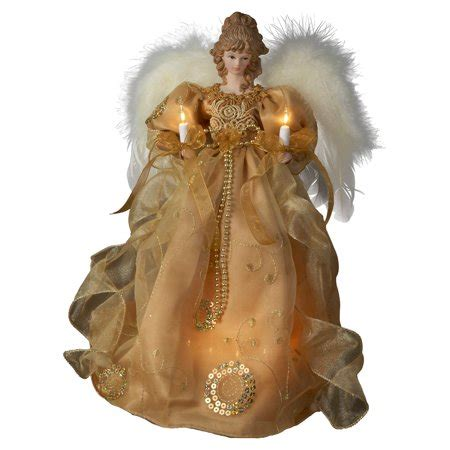 kurt adler angel tree topper kurt adler 14 in tree topper ivory walmart