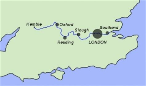 non tidal river thames map facts about the river thames