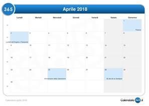 Calendario 2018 Aprile Calendario Aprile 2018