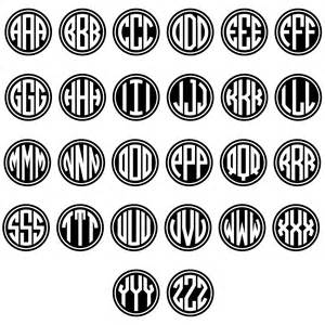Monogram Letters Template by Image Gallery Monogram Letters
