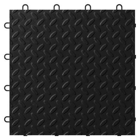Garage Mats Lowes by Shop Gladiator 12 In X 12 In Black Tread Plate Garage