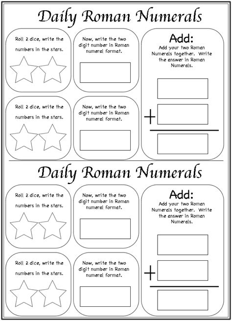printable math worksheets roman numerals daily roman numerals worksheet worksheets roman and math